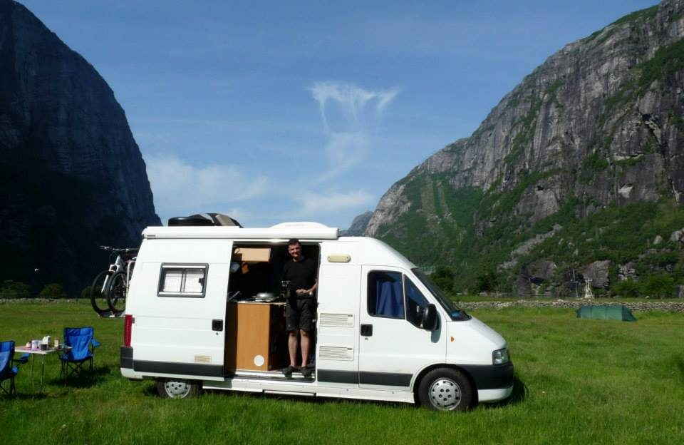 Campingplatz an dem Kjeragbolten