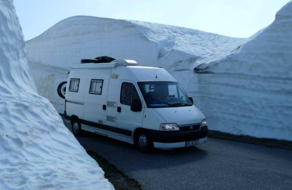 Norwegen an einem Pass