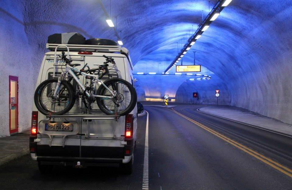 Stellplatz im längstem Tunnel der Welt